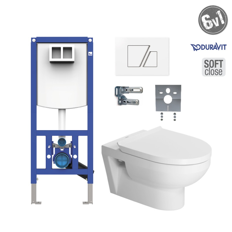 DURAVIT DuraStyle Basic Rimless SoftClose SET WC 6v1 s tlačítkom S707B